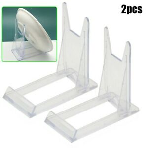 2*Removable Bracket Transparent Acrylic Display Stand For Book/Shoe/Phone/Tablet