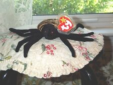 "Halloween TY Beanie Baby babies Spinner Spider 10-28-1996  MWMT's 5"" Long Cute"