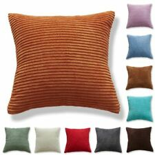 Solid Corduroy Cotton Sofa Bed Cushion Cover Throw Pillow Case Home Decorative