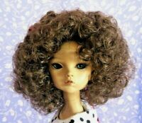Monique HEATHER Lt. Brown Full Adj.Cap Doll Wig SZ 6-7 Tight Curl, Afro