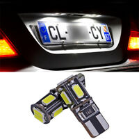 2 ampoules à LED blanc feux de plaque éclairage  pour Volkswagen Polo 6R  6C