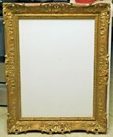 22K gold leaf frame fits 24 x 32 painting, outer dim. 33 x 41
