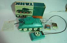 Vtg Plastic USSR Russian Battery Power Remote Control Tank Tahk Toy, w/ Orig Box