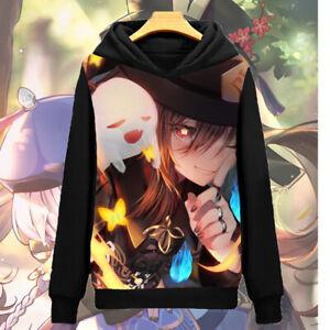 Anime genshin impact hu tao Cosplay Coat Unisex Hoodie Jacket Sweatshirts#502