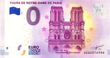 75004 Les Tours de Notre-Dame, 2018, Billet 0 € Souvenir