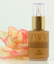 IMAN Second To None Oil-Free Foundation Makeup Clay 5 Pump 1 oz SPF 8 Matte Glow