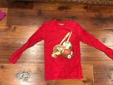Cwd Kids Red Long Sleeve T-Shirt w/ Ball Theme in Boys Size M