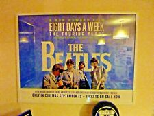 Beatles Eight Days A Week cinema film movie quad poster