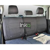 VW Amarok Pick Up Truck Inka Fully Tailored Rear Waterproof Seat Covers Grey