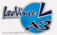 LEO VINCE EXHAUST SILENCER LOGO BADGE STICKER HIGH TEMP RESISTANT RACING BIKE