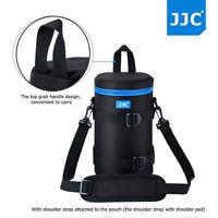 JJC118x235mm Deluxe Lens Pouch Case Bag with Shoulder Strap for Canon Nikon Lens
