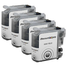 4 LC103XL for Brother LC103 BLACK High Yield Ink Cartridge MFC-J650DW MFC-J6520D