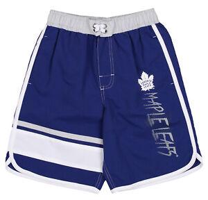 Outerstuff NHL Youth (8-20) Toronto Mapleleafs Swim Shorts, Blue