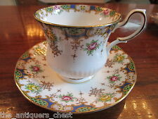 Queens Rosina, England, Kenilworth pattern, lettice,  cup and saucer [15-B]
