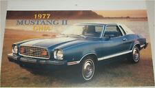 1977 Ford Mustang II Ghia ht car print (blue & white)
