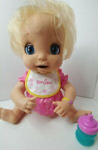 2006 Baby Alive Doll Soft Face Tested Works Original Dress Bib Bottle VIDEO