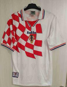 Rare Original Vintage Croatia 1998 Soccer Home Jersey XL