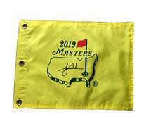 2019 Masters Souvenir Flag w/ Tiger Woods Auto  PGA Augusta National
