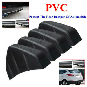 Car Rear Bumper Triangle Sticker PVC Anti-collision Shark Fin 4Wing Lip Diffuser