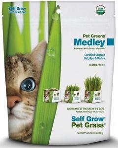 Bellrock Growers Pet Greens Self Grow Medley Pet Grass, 3-oz bag (Free Shipping