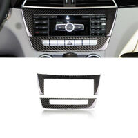 Kohlefaser Konsole CD Panel Abdeckung Trim Für Mercedes Benz C-Klasse W204 11-13