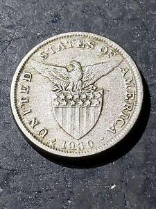 1930 M Philippines 5 Centavos Coin #June44
