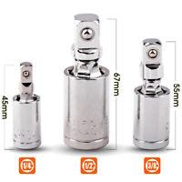 "1/4"" 3/8"" 1/2"" Universal Joint Set Ratchet Angle Extension Bar Socket Adapter SE"