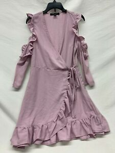 NWT Romeo & Juliet Couture Dress Lilac Long Sleeve Cut Outs Formal Dress Small