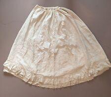 Antique Victorian Edwardian Lace Tuck Pleat Petticoat Long Skirt Bustle Era