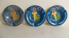 Set of 3 VTG 1956 Melbourne Olympic Games Ashtray Cigar Tray By British Plastics