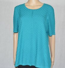 MILLERS Ladies Size XL Textured Short Sleeve Teal Jumper Top New With Tag