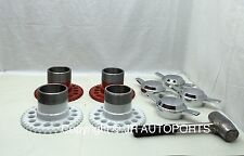 4 wire wheel adapters 2 Bar Zenith Smooth chrome knock offs Spinners  hammer