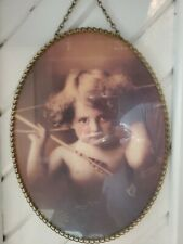 "Cupid Chimney Flu Cover Vtg Replica Gallery Graphics Arrows Cherub 8""X11"""