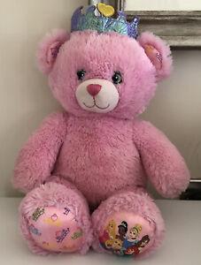 Build A Bear Disney Princess Teddy Bear Plush Pink Cinderella Belle Rapunzel