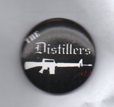 THE DISTILLERS BUTTON BADGE PUNK ROCK BAND CITY OF ANGELS - CORAL FANG 25MM