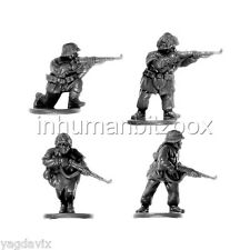 GLG08 RIFLEMAN x4 + BASE M GERMAN GRENADIER LATE FLAMES OF WAR BITZ PSC 15mm