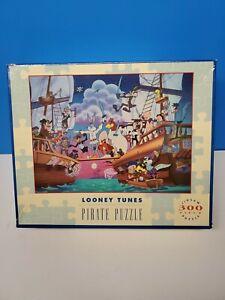 Vintage Warner Bros Looney Tunes Pirate Puzzle Jigsaw Puzzle 300 Pieces 1992