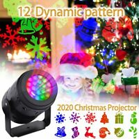 Christmas! LED Outdoor Rotating Snowflake Laser Light Projector Lamp Party Decor