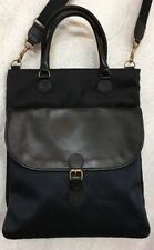 Lanvin Messenger book bag large black and navy long strap nylon ladies or men