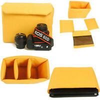 Waterproof DSLR SLR Camera Bag Insert Partition Padded Cover Case Pouch + Clip