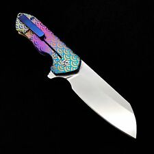 "Kizer Ki3504K2 Degnan Guru Flipper  Knife J-wave Titanium 3.00"" Blade Custom"