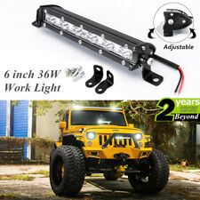 36W 6 inch LED Work Light Bar Driving Lamp Fog Off Road SUV Car Boat Truck 4WD B