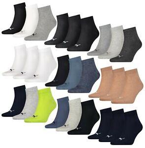 6 9 12 15 18 Paar Puma Unisex Quarters Socken Sportsocken Kurzsocken 35 39 43 47