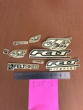 "Felt 4-1//2/"" Print blk//red//clear w///""bicycles/"" Sticker Decal"