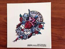 GUNS N ROSES - HEART LOGO - STICKER/DECAL - BRAND NEW VINTAGE - MUSIC BAND 082