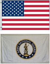 3' X 5' 3x5 National Guard Seal Flag + USA American Flag Flags WHOLESALE LOT