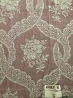 Vtg+40%E2%80%99s+Monument+Bedspread+Co+Dusty+Rose+Ivory+Floral+Shabby+Chic+Curtains+2pc