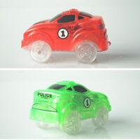 Popular Electronics Car For Magic Track Toys Flashing Light Boys Educational Toy