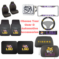 NCAA Louisiana Tigers Choose Your Gear Automotive Accessories Official Licensed