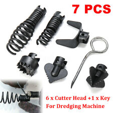 7Pcs Drain Cleaner Combination Cutter Head For Dredger 16mm Manganese Steel  !